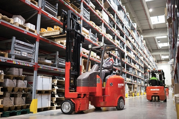Manitou EMA II Electric Articulated Masted Forklift Industrial Warehousing Northern Lift Trucks