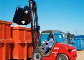 Manitou Semi Industrial All Terrain Masted Forklift Warehousing Equipment Industrial Solutions MSI30 Northern Lift Trucks